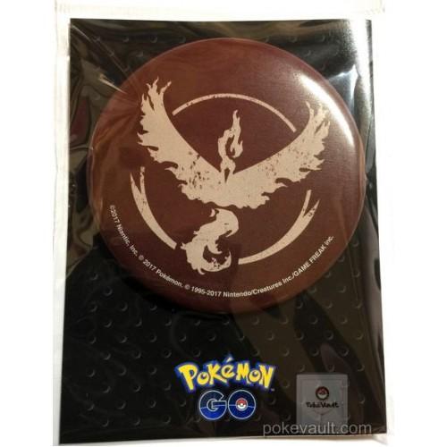 Pokemon Center Online 2017 Pokemon GO Team Valor Moltres Extra Large Size Metal Button