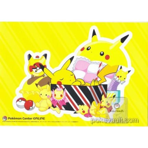 Pokemon Center Online 2017 Pikachu Giant Size Sticker (Version #6) NOT SOLD IN STORES