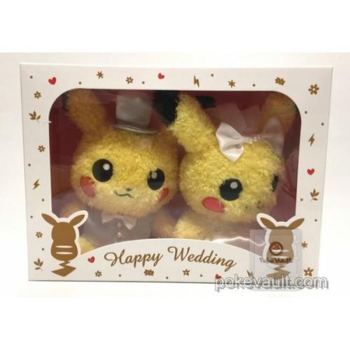 Pokemon Center Online 2017 Sekiguchi Pikachu Happy Wedding Set Of 2 Fluffy Plush Toys