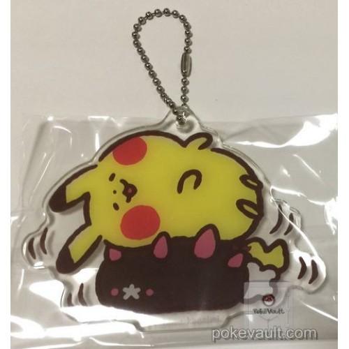 Pokemon Center 2017 Pokemon Yurutto Campaign Pikachu Pyukumuku Acrylic Plastic Keychain (Version #9)