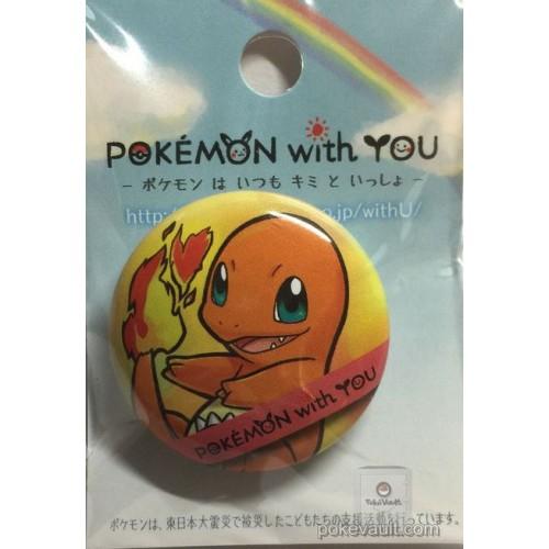 Pokemon Center 2017 Pokemon With You Series #8 Charmander Tin Can Badge