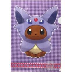 Pokemon Center 2017 Eevee Poncho Campaign Espeon A4 Size Clear File Folder