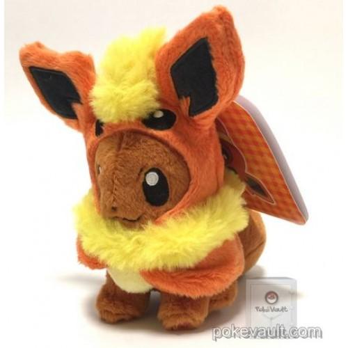 Pokemon Center 2017 Eevee Poncho Campaign Flareon Mascot Plush Keychain