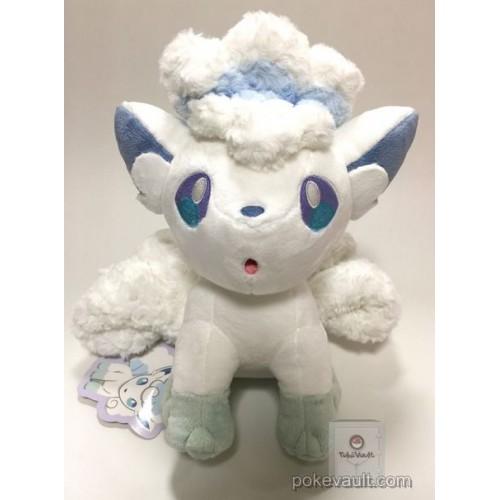 Pokemon Center 2017 Vulpix's Crystal Season Campaign Alolan Vulpix Large Size Fluffy Plush Toy