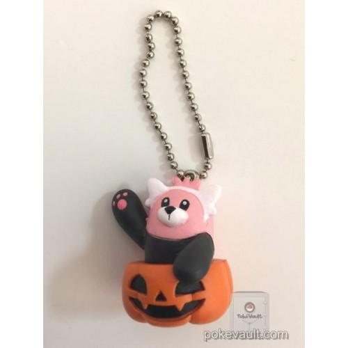 Pokemon Center 2017 Halloween Pumpkin Mascot Bewear Keychain