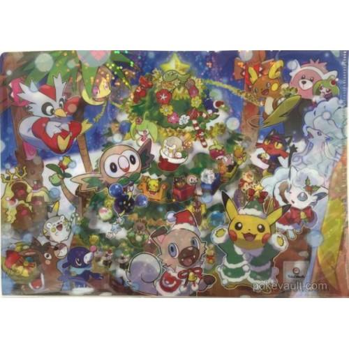 Pokemon Center 2017 Christmas Campaign Alolan Vulpix Rockruff Delibird & Friends A4 Size Clear File Folder