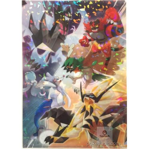 Pokemon Center 2017 A New Dawn Campaign Dusk Mane Dawn Wings Necrozma Primarina & Friends A4 Size Clear File Folder