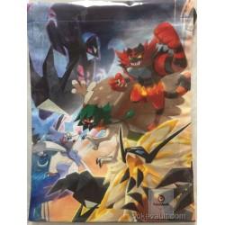 Pokemon Center 2017 A New Dawn Campaign Dusk Mane Dawn Wings Necrozma Incineroar & Friends Medium Size Drawstring Dice Bag