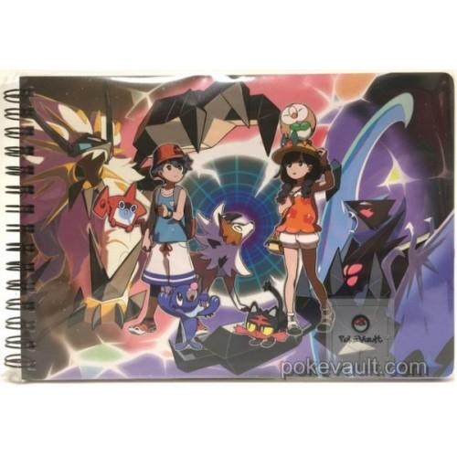 Pokemon Center 2017 Ultra Alola Adventure Campaign Dusk Mane Dawn Wings Necrozma Lycanroc Dusk Form & Friends Spiral Notebook
