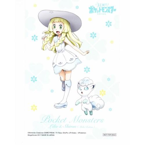Pokemon Center 2017 G.E.M. Lillie Alolan Vulpix Postcard NOT SOLD IN STORES