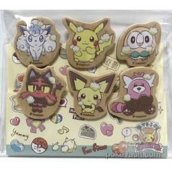 Pokemon Center 2018 Oteire Please Campaign Alolan Vulpix Pikachu Rowlet Litten Pichu Bewear Set of 6 Clips