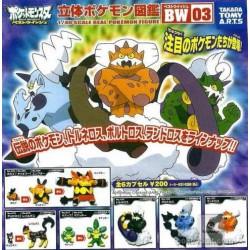 Pokemon 2011 Best Wishes Zukan 1/40 Scale Mini Figure Set #BW03 Tornadus Thundurus Landorus Simisage Liepard Emboar & More CHOOSE ONE