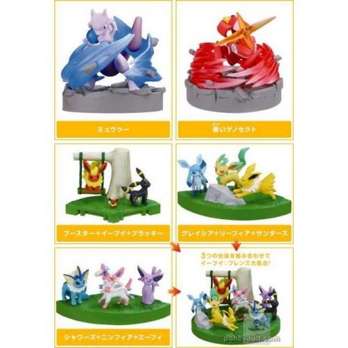 Pokemon 2013 Best Wishes Zukan 1/40 Scale Mini Figure Set (Special Movie Version) Eevee Espeon Flareon Glaceon Jolteon Leafeon Sylveon Umbreon Vaporeon Mewtwo Red Genesect CHOOSE ONE