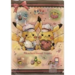 Pokemon Center 2018 Pikachu's Sweet Treats Valentine's Day Campaign Pikachu Sylveon & Friends A4 Size Clear File Folder