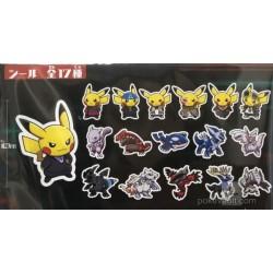 Pokemon Center 2018 Rainbow Rocket Campaign Set Of 50 Stickers