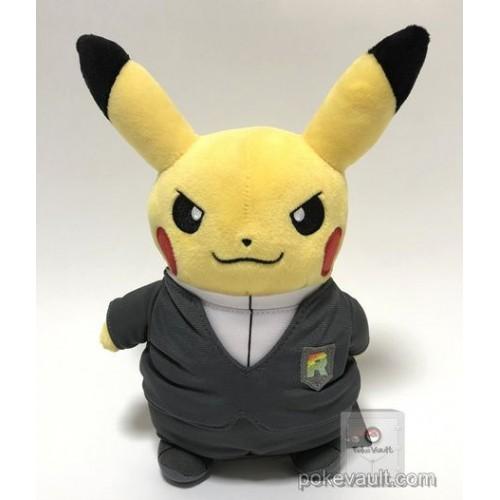 Pokemon Center 2018 Rainbow Rocket Campaign Team Rocket Giovanni Pikachu Plush Toy