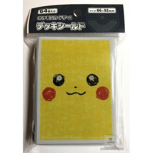 Pokemon Center 2018 Pikachu Face Set Of 64 Deck Sleeves (Version #1)