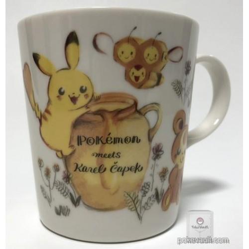 Pokemon Center 2018 Pokemon Meets Karel Capek Campaign Pikachu Teddiursa Combee Ceramic Mug