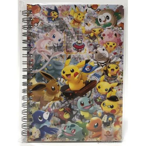 Pokemon Center Tokyo DX 2018 Grand Opening Pikaachu Eevee Mew & Friends Spiral Notebook