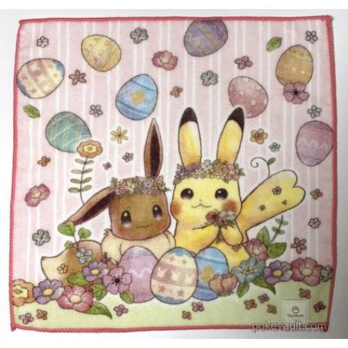 Pokemon Center 2018 Easter Campaign Pikachu Eevee Mini Hand Towel