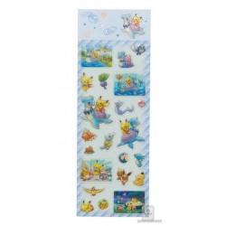 Pokemon Center 2018 Riding With Lapras Campaign Lapras Pikachu  Eevee & Friends 3D Sticker Sheet