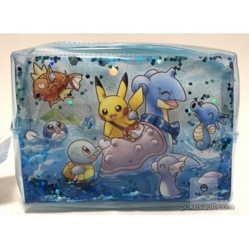 Pokemon Center 2018 Riding With Lapras Campaign Lapras Pikachu Magikarp & Friends Clear Plastic Pouch