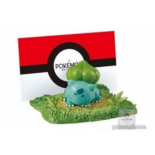Pokemon Center 2018 Re-Ment Desktop Figure Hide & Seek On Your Desk Series Bulbasaur Oddish (Card Stand)