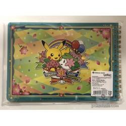 Pokemon Center 2018 20th Anniversary Campaign #1 Shaymin Pikachu Fennekin & Friends Spiral Notebook