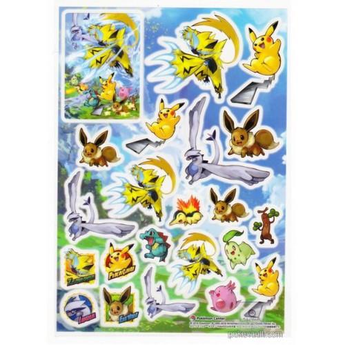 Pokemon Center 2018 Zeraora Lugia Eevee Totodile & Friends Sticker Sheet