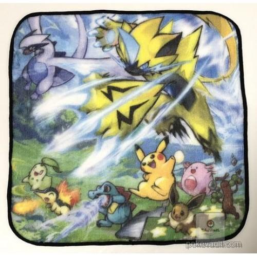 Pokemon Center 2018 Zeraora Lugia Eevee & Friends Mini Hand Towel
