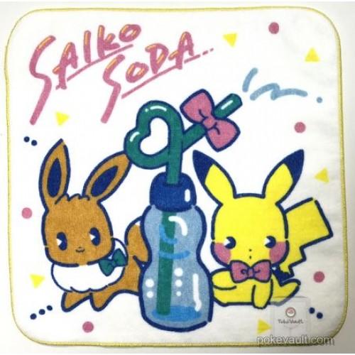 Pokemon Center 2018 Saiko Soda Pikachu Eevee Mini Hand Towel