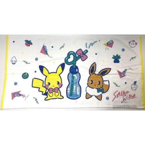 Pokemon Center 2018 Saiko Soda Campaign Pikachu Eevee Mini Bath Towel