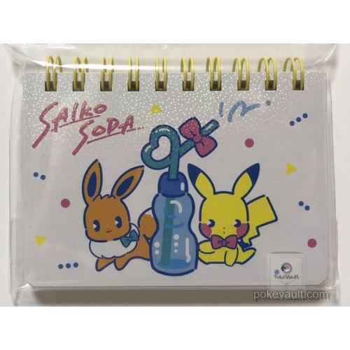 Pokemon Center 2018 Saiko Soda Campaign Pikachu Eevee Mini Pocket Size Spiral Notebook