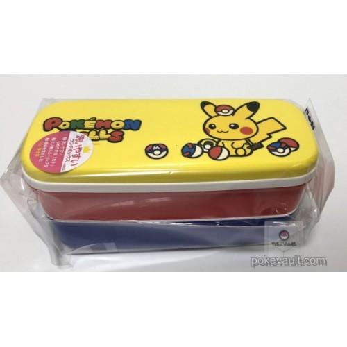 5d09b26ad246 Pokemon Center 2018 Pokedolls Campaign Pikachu Japanese Style Two Level  Type Bento Lunch Box