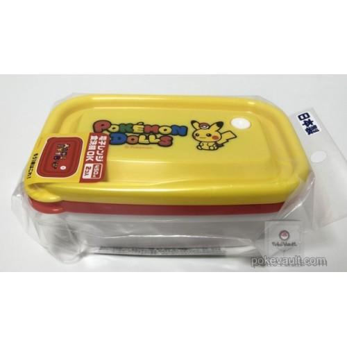 Pokemon Center 2018 Pokedolls Campaign Pikachu Mew Snorlax & Friends Japanese Style Set Of 2 Tupperwear Food Storage Boxes