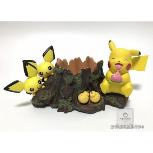 Pokemon Center 2018 Pokemon Planter Series Pikachu Pichu Forest Planter Figure