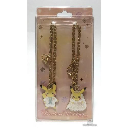 Pokemon Center 2018 Precious Wedding Campaign Pikachu Male & Female Set of 2 Pair Charms
