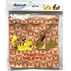 Pokemon Center 2018 Pikachu Eevee Pikachu Movie Version Medium Size Drawstring Dice Bag