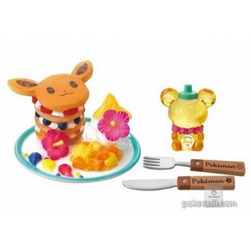 Pokemon Center 2018 Pokemon's Tropical Sweets Eevee Teddiursa Figure (Version #5 Fruit Pancake)