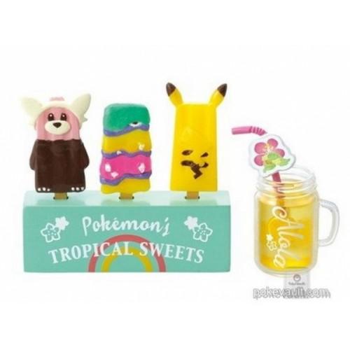 Pokemon Center 2018 Pokemon's Tropical Sweets Campaign Bewear Alolan Muk Pikachu Comfey Figure (Version #7 Fruit Ice Pop)
