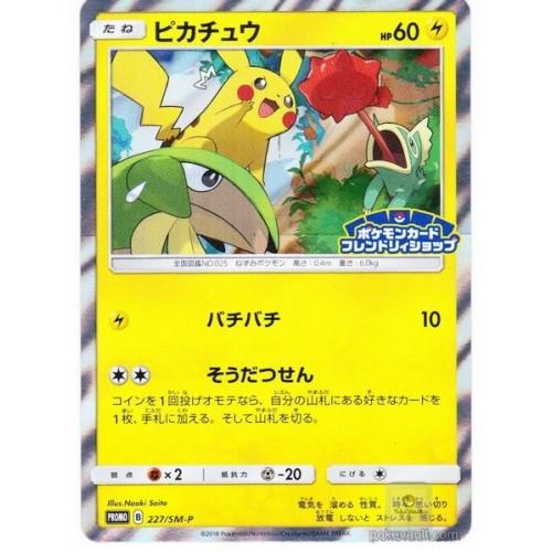 Pokemon 2018 Pokemon Card Friendly Shop Purchase Campaign Pikachu Holofoil Promo Card #227/SM-P