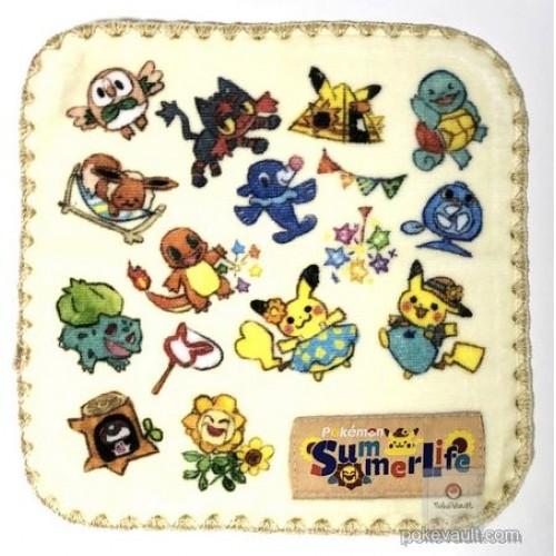 Pokemon Center 2018 Pokemon Summer Life Campaign Pikachu Litten Eeve & Friends Mini Hand Towel