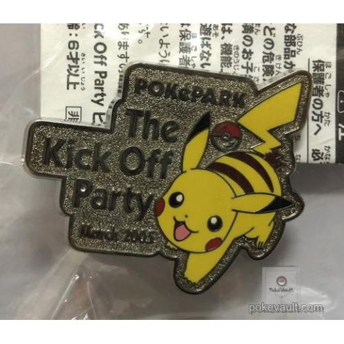 Pokemon 2005 PokePark Grand Opening Pikachu Kick Off Party Pin Badge