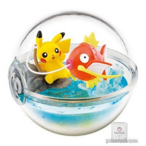Pokemon Center 2018 Re-Ment Terrarium Collection With Pikachu Series Pikachu Magikarp Figure (Version #3 Fishing)