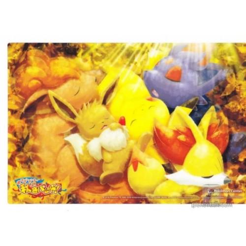 Pokemon Center 2018 Halloween Autumn Color Parade Vulpix Zorua Fennekin Eevee Pikachu Jumbo Clear Plastic Bromide Promo Card (Version #2) NOT SOLD IN STORES