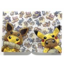 Pokemon Center 2018 Fan Of Pikachu & Eevee Campaign Poncho Pikachu Eevee Riolu Gengar & Friends A4 Size Clear File Folder