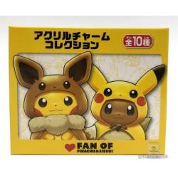 Pokemon Center 2018 Fan Of Pikachu & Eevee Campaign Rowlet Pikachu Acrylic Keychain Charm (Version #4)