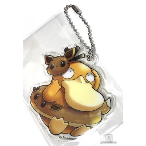 Pokemon Center 2018 Fan Of Pikachu & Eevee Campaign Psyduck Eevee Acrylic Keychain Charm (Version #6)