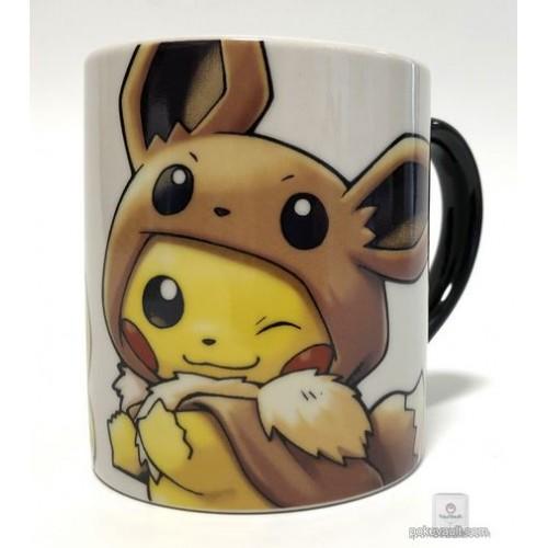Pokemon Center 2018 Fan Of Pikachu & Eevee Campaign Poncho Pikachu Eevee Ceramic Mug