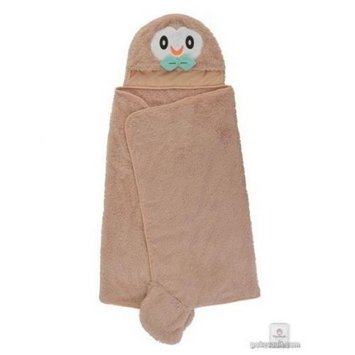 Pokemon Center 2018 Mofu-Mofu Paradise Campaign Rowlet Hooded Towel Poncho